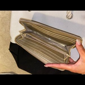 Michael Kors Bags - Gold Michael Kors Wallet